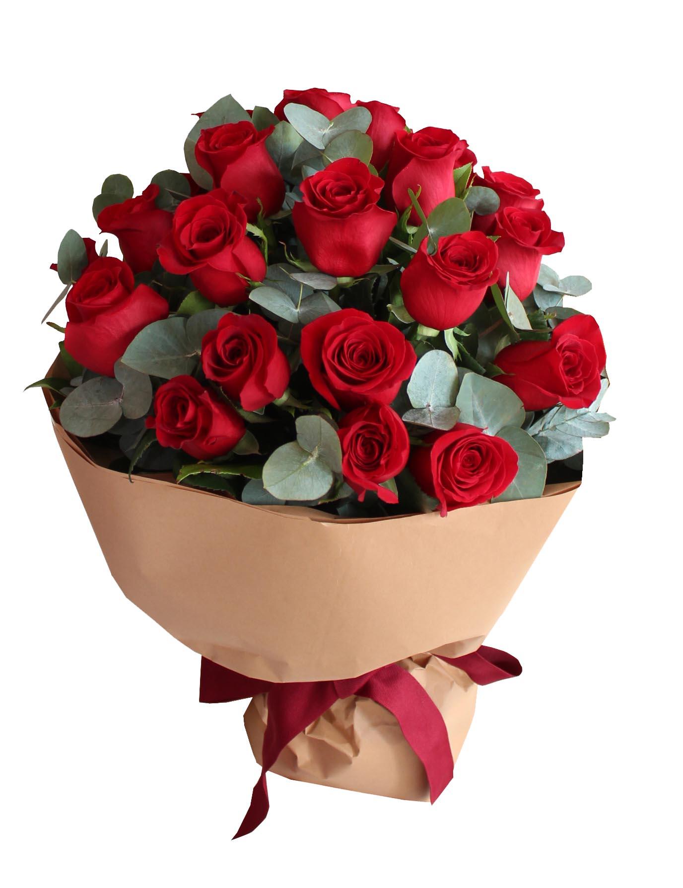 24 Red Roses - H.O.F. Decor
